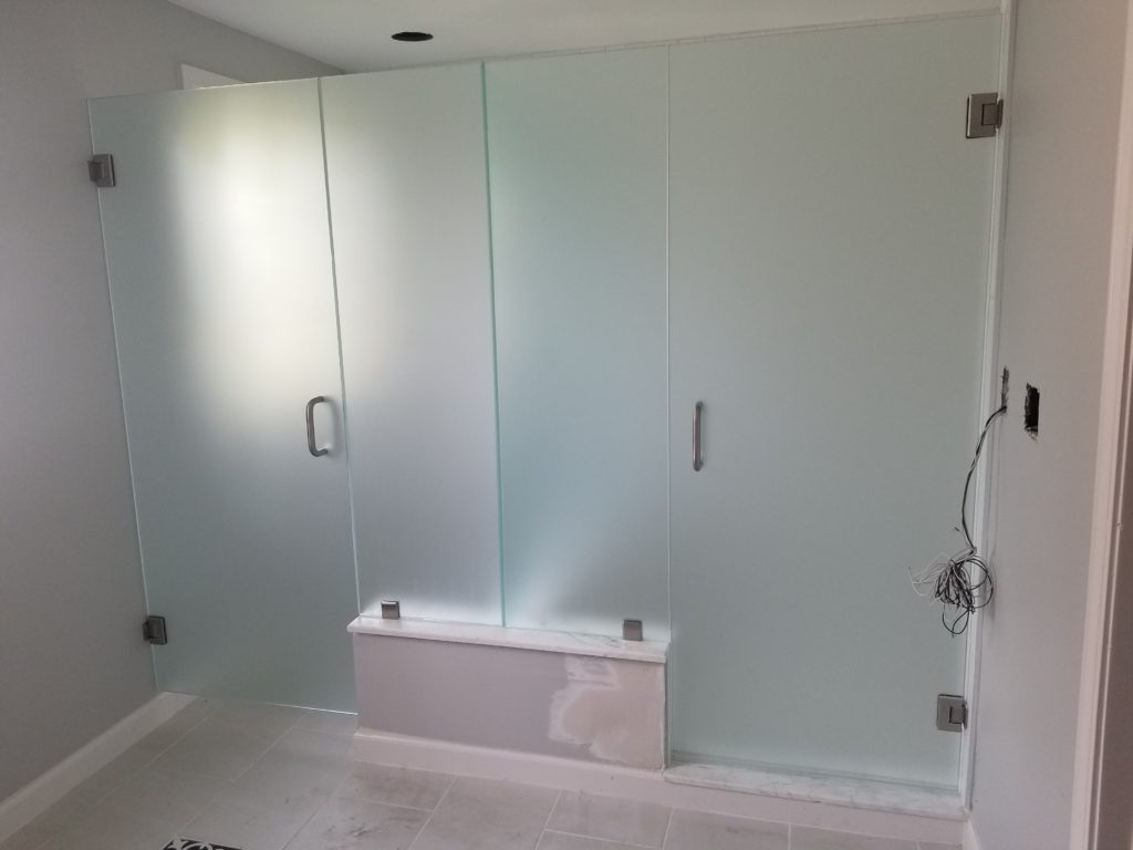 Frosted Glass Shower Doors Alba Glass Mirror Inc